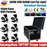 Wholesale Road Case in1 Packing Led COB Par Cans W in1 RGBW Color PIN DMX IN OUT Socket Wide Voltage EU US Power Plug Shading Cover