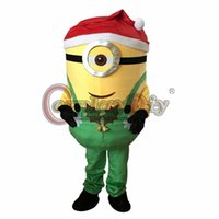 Wholesale Custom made Christmas Green One Eye Despicable Me Minion Mascot halloween Mascot Costume D0201