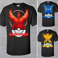 Wholesale Poke Go t shirt Summer Fashion Pocket Monster New Men Poke Go Women Poke Go Unisex t Shirt O neck Short Sleeved Men T Shirts