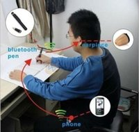 Invisible pen - Mini Spy Earpiece Invisible Wireless Bluetooth Pen Set Hidden Cheat Exam camcorder easy pass the exam