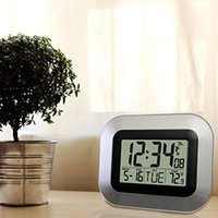 Wholesale Self Setting Digital Home Office Decor Wall Clock With Indoor Temperature hot search