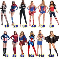 Wholesale HOT Halloween Costumes Cosply clothing for woman Marvel hero Batman captain America spider man Party Costumes Halloween clothing DHL Free