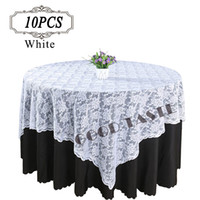 crochet table cloth - 10PC Table overlay quot Lace table overlay for weddings Lace tulle Fabric Table Cover Cloth table overlay of Wedding in Event Party Supplies