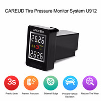Wholesale CAREUD U912 TPMS Wireless Car Tire Pressure Monitoring System Sensors and LCD Display Embedded Auto Monitor for Toyota Tire Pressure Alarm