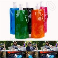 Wholesale Creative ml Flexible Collapsible Foldable Reusable Sport Water Bottles Ice Bag Outdoor Folding Sports Water Bottle CCA4845
