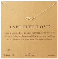 Wholesale Dogeared Necklace with love pendant infinite love noble and delicate no fade and high quality