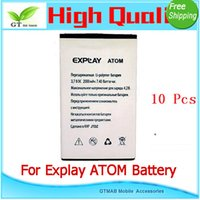 atom tests - 10pcs good testing Full Power Safe High Quality Mobile phone battery For Explay ATOM battery