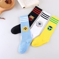 athletic soles - Unisex Poke Deathly Football Athletic Sock kids boys girls children Solid thick soles long football long Sports socks years