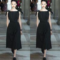 apples york - Simply New York Fashion Week Sleeveless Bateau Dresses Evening Wear Tea Length Chiffon Formal Evening Gowns
