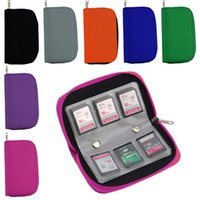 bags sd memory - 6 Colors SD SDHC MMC CF Micro SD Memory Card Storage Carrying Pouch bag Box Case Holder Protector Wallet