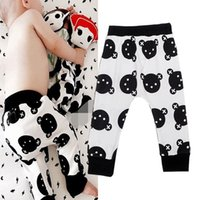 Wholesale 2016 Bear Baby Boys Girls Harem Pants Trousers Toddler Bottoms Slacks Leggings Cartoon Animal Bear Head Pattern Kids Pants Children Clothing