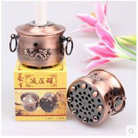 Wholesale Copper Moxibustion appliance Health furnace Moxibustion tank Ay Tsao Cashmere moxa Moxibustion box