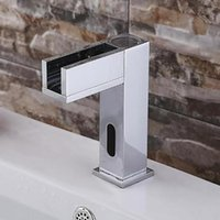 Wholesale Square Deep Water Faucet Chrome induction induction washbasin leading single water faucet