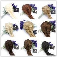 Wholesale Superior Quality Clip in Fishtail Plaited Pony Tail Hair Extension Piece Braid