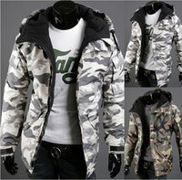 army camouflage material - Fall Men Camouflage Outdoor Sports new winter jackets man and high quality Material Cotton blend Army green light grey