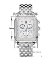 michele watch - factory seller High quality low price Luxury watches Stainless steel bracelet Michele Deco Diamond Chronograph Day Date Fully Function Qua