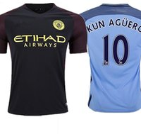 Wholesale 2016 Manchester City FC David Silva Home Football Soccer Jersey In Blue For New Season