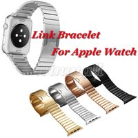 adapter replacement - DHL Retail Box L stainless steel alloy butterfly Link Bracelet Replacement Band Connector Adapter For Apple Watch Band MM MM