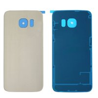 Wholesale 1 pc Original Battery Back Housing Cover For Samsung Galaxy S6 Edge Plus Glass Cover with Tape Adhesive