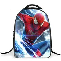 backpack with cooler - New fashion cartoon school bags with zipper boys cool character red spiderman bag child schoolbag for kid printing backpack