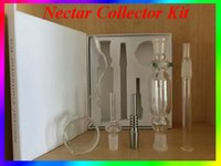 Wholesale Nectar Collector Kit Glass Nectar Collectar Tips with Titanium and Quartz Nail Dabber Dish mm Glass Pipe Nectar Collector In Stocked
