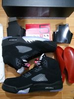 basketball tops - Black Metallic Top Quality Air Retro V Black Metallic OG Basketball Shoes Men Women size With Box