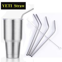 Wholesale YETI Straw Stainless Steel Straw Metal Drinking Straw YETI Straws Cleaning Brush Set Retail Kit Fits Yeti Tumbler Rambler Cups OTH286