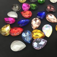 Wholesale 13x18mm color More Colors U choose Teardrop Fancy Glass Crystal Stones For Jewelry Making