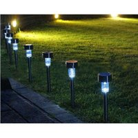 Wholesale 10PCS Garden Outdoor Stainless Steel LED Solar Landscape Path Lights Yard Lamp