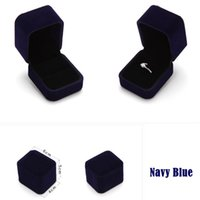 Wholesale New MM Colors Flocking Jewelry Box Ring Earrings Elegant Classic Luxury Valentine Show Case Box Jewelry Packaging Display