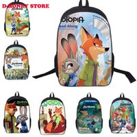 animal bookbags - 2016 New cute Cartoon Zootopia Pattern Children School Bag Boys Girls Bags Kids backpack Bookbags in stock