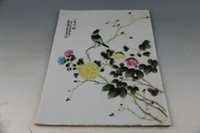 antique pastel - Pastel chrysanthemum starling porcelain plate painting of the republic of China Antique old porcelain goods collection