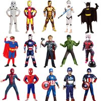 america music supply - Captain America Costume Batman Muscle Costume Kids Cosplay Props Halloween Costumes Fantasia Fancy Dress Party Supplies