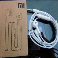 Wholesale Xiaomi piston Earphone Headphones with Remote and Mic for Xiaomi MI2 Hongmi M3 MI2S MI2A Mi1S M1