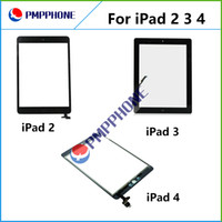 Wholesale For iPad Touch Screen Digitizer Assembly Glass Front Lens Replacement Part for iPad White Black fast shipping