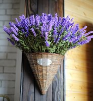 artificial grass flowers - Zakka Style Heads Fresh Purple Fake Plants Artificial Bouquet Roll Lavender Leaves Grass Wedding Garden Floral Decor Flowers Arrangement