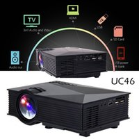 Wholesale Mini LED Projector P HD LCD Projectors UC46 Portable Multi Media Player Unic Wifi Wireless DLNA Miracast Display Home Theater HDMI VGA