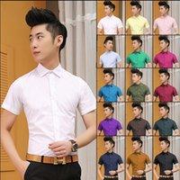 Wholesale 2016 summer men s short sleeved shirt Slim shirt business casual shirt M XL