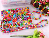 Wholesale Girls Variety Acrylic Beads for Children Kids Bracelets Necklace DIY Beaded Jewelry Making Colorful Beads for Sale Box