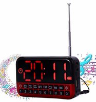 Wholesale L HD LCD Screen Personalized Portable Speaker Multi functional LED Alarm Clock FM Radio Card MP3 Wireless Speaker Hot Sales