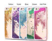 Para Iphone 7 Plus 6 6S SE 5 5S 4 4S 5C Líquido Estrella Glitter Estrella Cristal Transparente Transparente Plástico caso cubierta 100pcs 200pcs