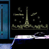 Wholesale Wall Sticker Children Room Decoration Wallpaper Wall Stickers Creative Fluorescence Fluorescence Tower