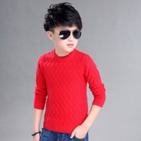 baby boys collection - New Collection Baby Boys Fall And Winter Warm Sweater Tees Boat Neck Solid Color Whoesale Clothing