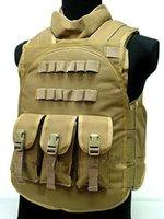 Wholesale Airsoft Paintball Tactical Combat Assault Vest Coyote Brown Multicam OD bk MC