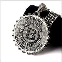 aa twist - Newest HipHop Necklace Hipster Street Dance Breaking AA Rhinestone B Letter Gear Pendant Necklaces For Men Women Hip Hop Joyas Bijoux