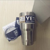 Wholesale DHL free shippin Stainless Steel oz Yeti Cups Cooler YETI Rambler Tumbler Cup Vehicle Beer Mug Double Wall Bilayer Vacuum Insulated ml