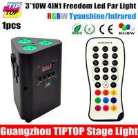 active synchronization - TIPTOP x10W LED IR Li ion Powered Up Light Black Case RGBW Auto Master Slave Synchronization Degree Lens IRC Operation