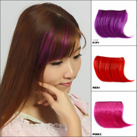 Wholesale Ombre Clip in on Bangs Fringe Synthetic Hair Bangs New Slim Franja Hair Piece Frange Bang Front Hair Extension Hairpiece