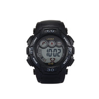 automatic rubber strap - Hot Selling Round Shape Rubber strap Mens Water Resistant Watch Multi function Mechanical Automatic Digital Black Band Stopwatch