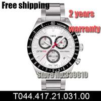 Cheap New Stainless watch Japan quartz movement Men's Chronograph Watch T044.417.21.031 T044 Gents Wristwatch PRS516 + Original Box Free Shipping